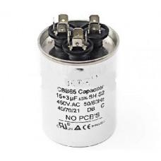 Конденсатор 15+3 mF CBB65 450VAC, металлический