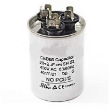 Конденсатор 20+2 mF CBB65 450VAC, металлический