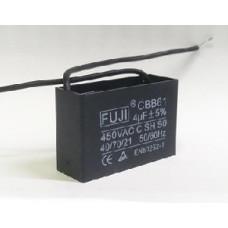Конденсатор 4 mF CBB61 450VAC, квадратный