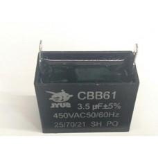 Конденсатор 3.5 mF CBB61 450VAC, квадратный