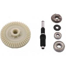 Шестерня электропилы пластиковая с валом и подшипниками