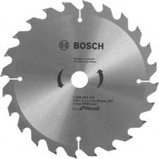 Диск пильный Bosch 190x24x20 по дереву