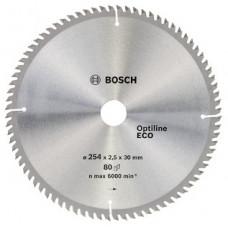 Диск пильный Bosch 254x80x30 по дереву