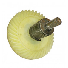 Шестерня электропилы пластиковая в сборе, тормозная пружина левая