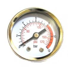 Манометр для компрессора, резьба 1/4, диаметр 40мм